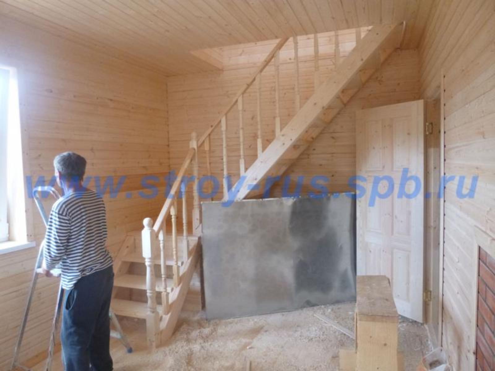Отделка мансарды блок хаусом фото