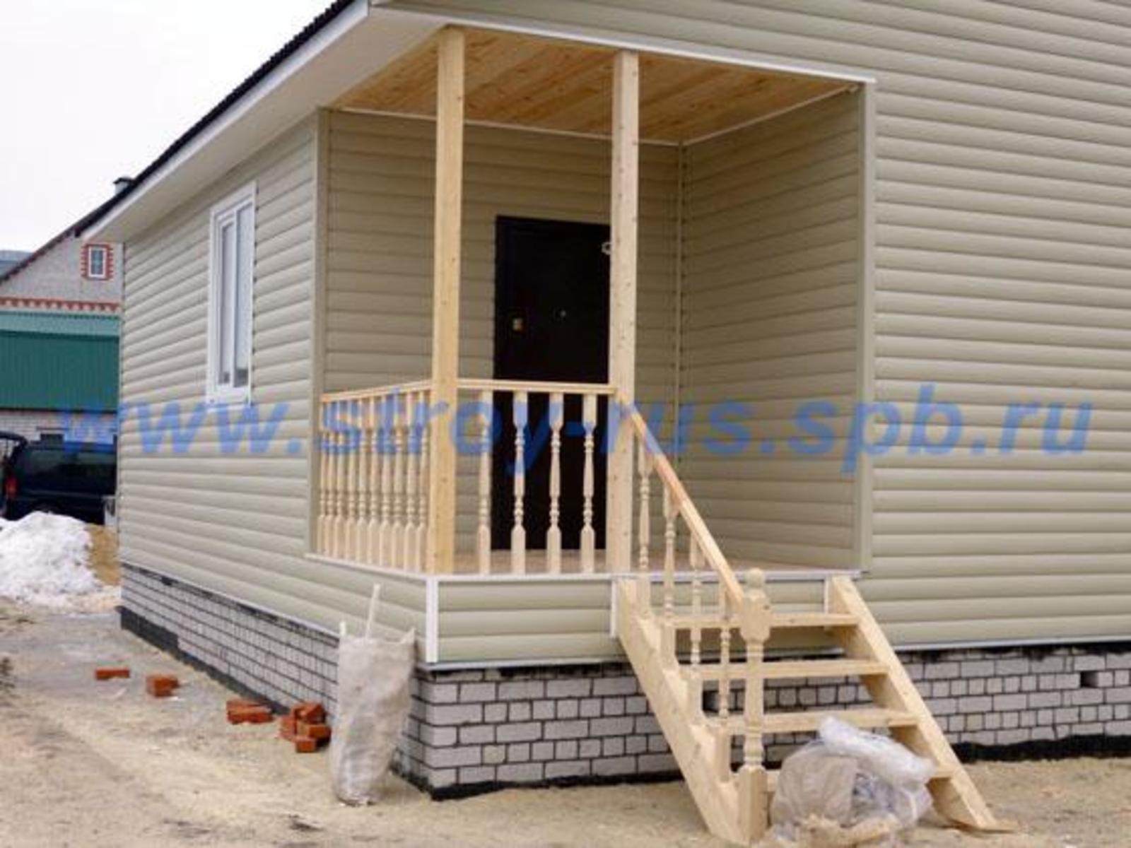 Крыльцо с террасой к дому своими руками проекты фото